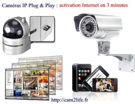 cam2life-ill1 Caméra de surveillance IP  « plug and play » : l'innovation