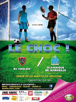 Affiche-RCT-OM-2013-Definit RCT Toulon/OM: le choc de deux titans pour soutenir l'association de Pascal Olmeta