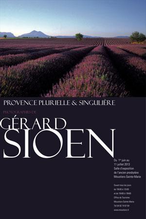 ExpoSIOENMoustiersjuin13 Moustiers expose Gérard Sioen et sa «Provence plurielle    et singulière»