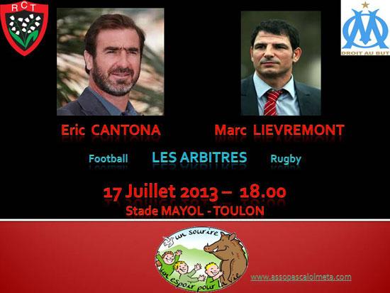 arbitres RCT Toulon/OM: le choc de deux titans pour soutenir l'association de Pascal Olmeta