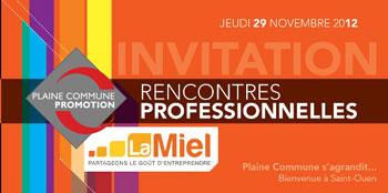 miel-rencontres-pro Entreprendre en Banlieue - Succès annoncé pour les 13ième rencontres professionnelles de Plaine Commune (93)